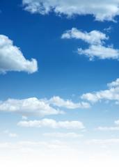 Aluminium Prints Heaven Sky and clouds vertical photo