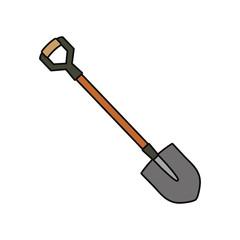 colorful shovel over white background  vector illustration