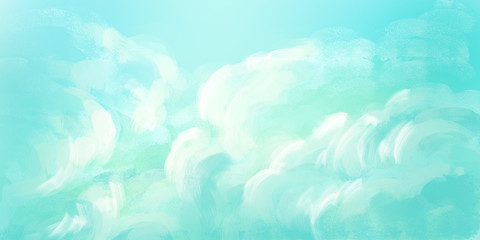 Abstract Illustration of the Sky. Digital painting.