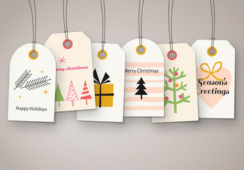 Christmas Gift Tags Set
