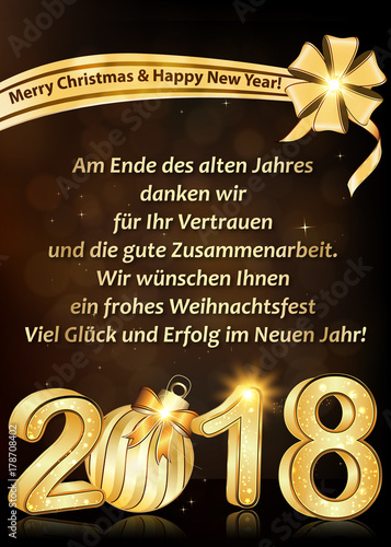 Greeting card for companies with german text text translation at greeting card for companies with german text text translation at the end of the m4hsunfo