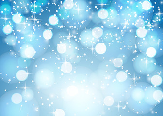 Nightly winter snowy background. Vector eps10