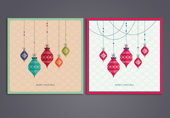 Christmas Card Set with Hanging Oraments