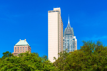 High Rise buildings in Downtown District of Mobile, Alabama, USA