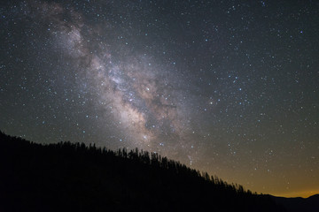 Milkyway Galaxy in Yosemite National Park