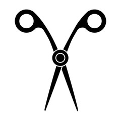 Scissor utensil isolated icon vector illustration graphic design