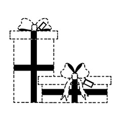 gift boxes icon over white background vector illustratio
