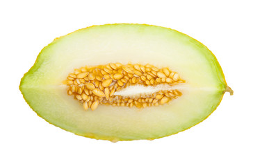 Honeydew melon isolated on the white background