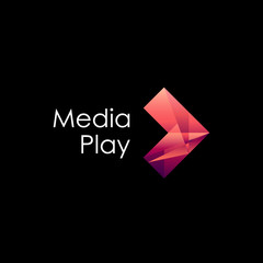 Vector logo design. Media play
