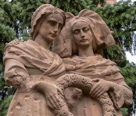 Détail du monument aux Morts de Bennwihr, Haut-Rhin, France