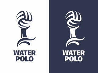 Modern vector professional sign logo water polo