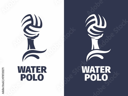 modern vector professional sign logo water polo stock image and