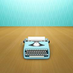 Aqua typewriter