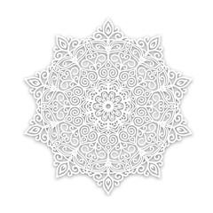 White pattern, mandala