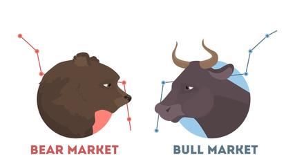 Bull and bear.
