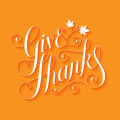 HAPPY THANKSGIVING hand-lettered card