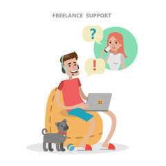Isolated freelance support.