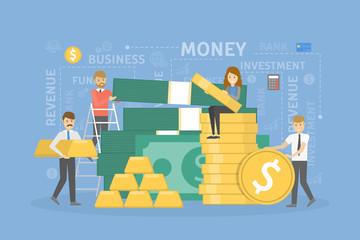 Money pile illustration.