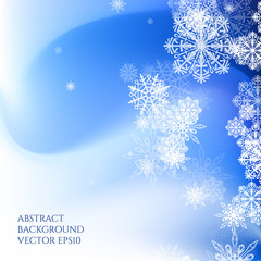 Abstract background Christmas style. Pattern with snowflakes.