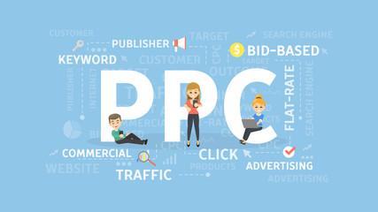 PPC concept illustration.