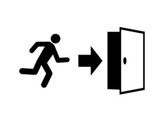 Obraz wyjście awaryjne - fototapety do salonu