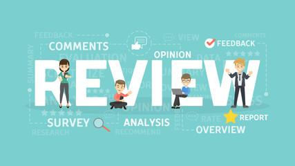 Review concept illustration.