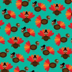 cute thanksgiving turkey pattern