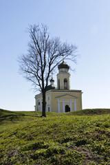 Orthodox Church in the territory of Khotyn Fortress. Ukraine.