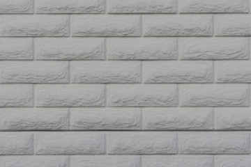 White decorative brick wall as a background, texture