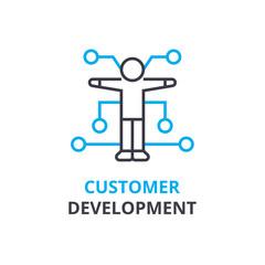 Customer development concept , outline icon, linear sign, thin line pictogram, logo, flat illustration, vector