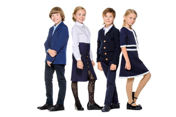 fashionable school kids