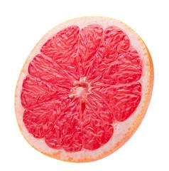 grapefruit slice isolated on a white background