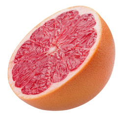 half of grapefruit isolated on a white background