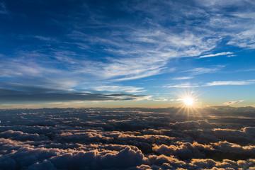 sunrise obove the clouds