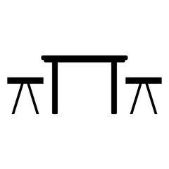 Table and chairs icon.
