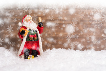 Santa Claus in the snow
