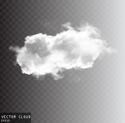 Vector cloud shape illustration