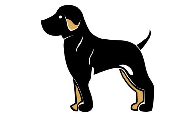 picture of dog silhouette