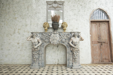 Classic white marble fireplaces