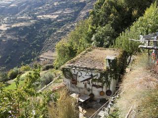Casa rústica de montaña, situada en Sierra Nevada Granada España.