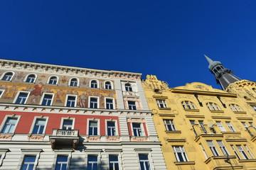 Historische Architektur am Prager Karlsplatz