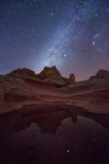 Milky way over White Pocket, Arizona desert