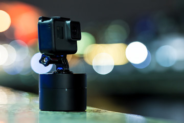 Shooting timelapse on action camera in London