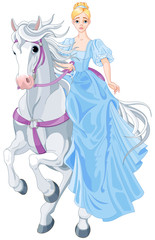 Canvas Prints Fairytale World The Princess Is Riding a Horse