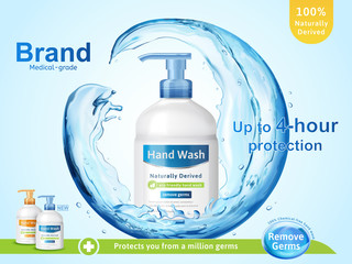 Medical grade hand wash ads