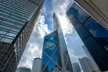 Modern building office at Central Business District in Hongkong city, Hong Kong