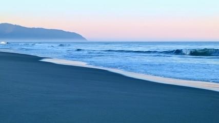 Sunrise dawn waves on beach Cape Kiwanda Oregon Coast Oregon 30