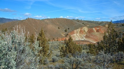 Wide painted hills Spring Sutton Mountain John Day Great Basin High Desert Columbia Plateau