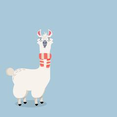 lama alpaca Vector Illustration