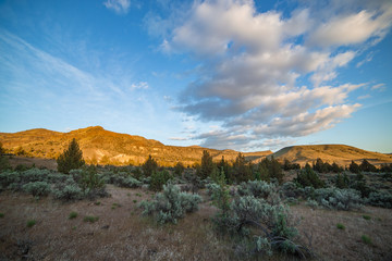 Sutton Mountain at sunset - great basin scenery